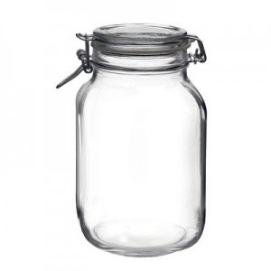 Clean out a mason jar, these can cost as little as 50p (approx. 70cent)