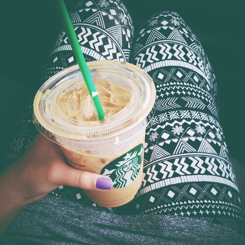 Go to Starbucks a lot and post pictures of it