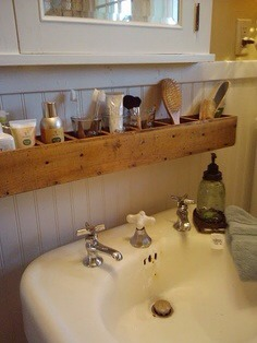 Shelf For Bathroom-- Neat Idea!