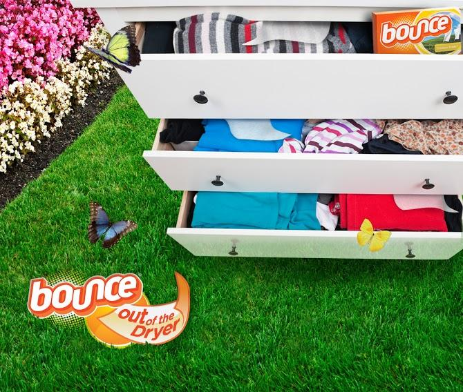Tuck a few Bounce sheets in your drawers and closets to help keep them smelling fresh