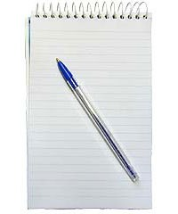 Paper and a Pen - in case you need to take notes - get one of the little pads of paper so it will take up less space