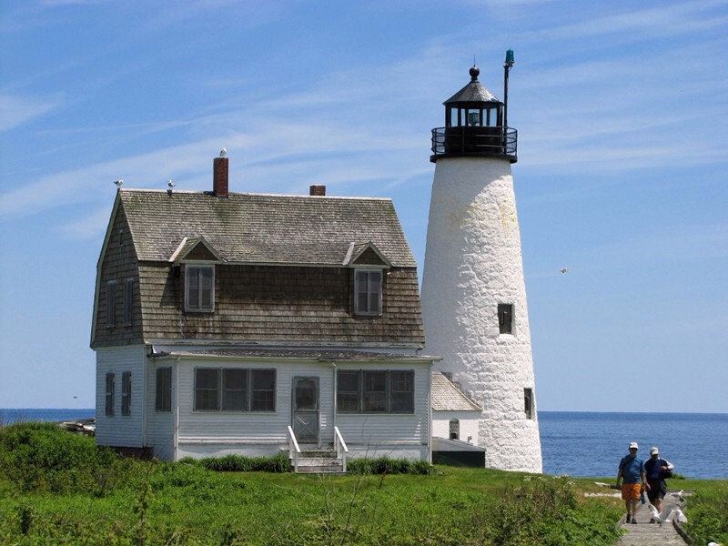 19.) Wood Island Lighthouse, Maine In 1896, a drifter shot and killed the area's loc sheriff, and then went to the lighthouse to kill himself. It is said that his moans and footsteps are often heard, as well as shadows with a human form. Locked doors are also known to somehow open on their own