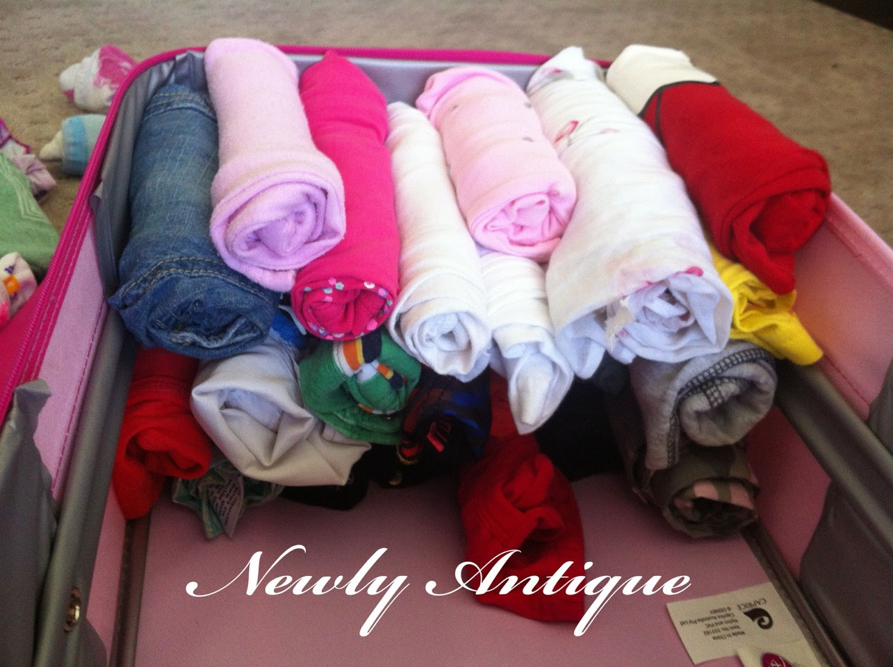 Roll clothes instead or fold to save space and prevent and even get rid if wrinkles.
