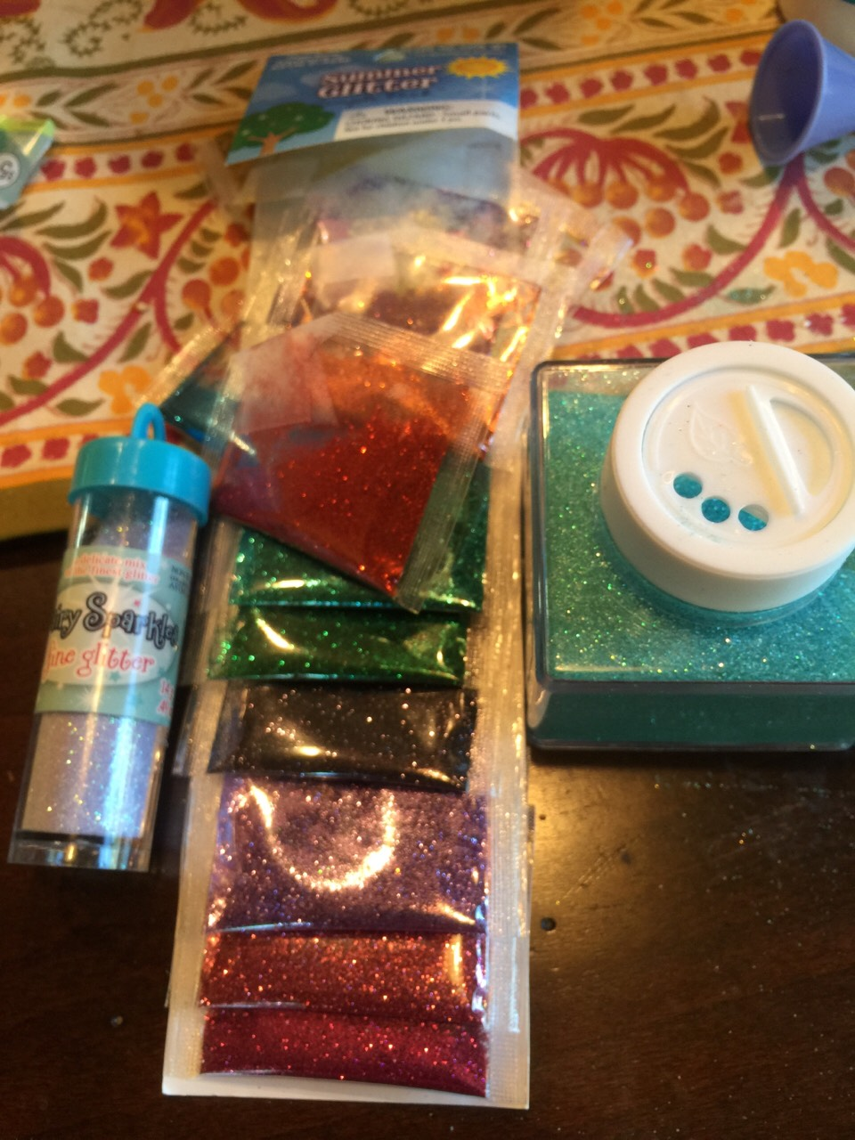 You also need glitter I got everything from Joan's