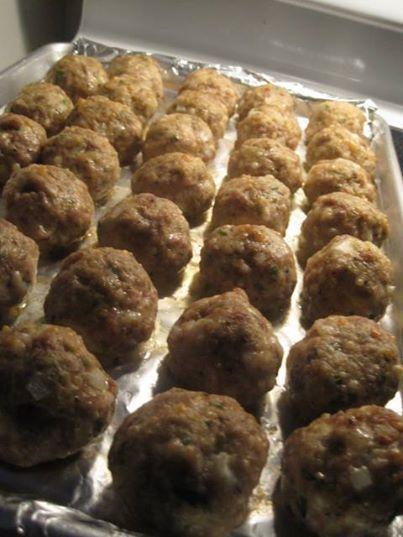 Makes 35 large meatballs