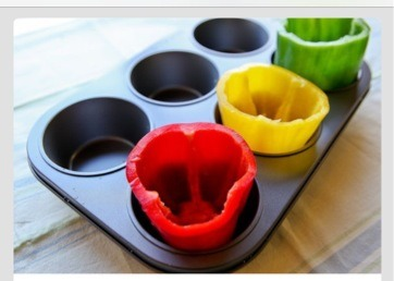 Use a large muffin pan to keep them upright in the oven